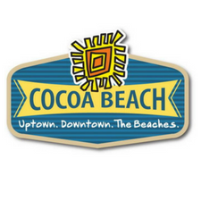City of Cocoa Beach Logo- blue with sun logo