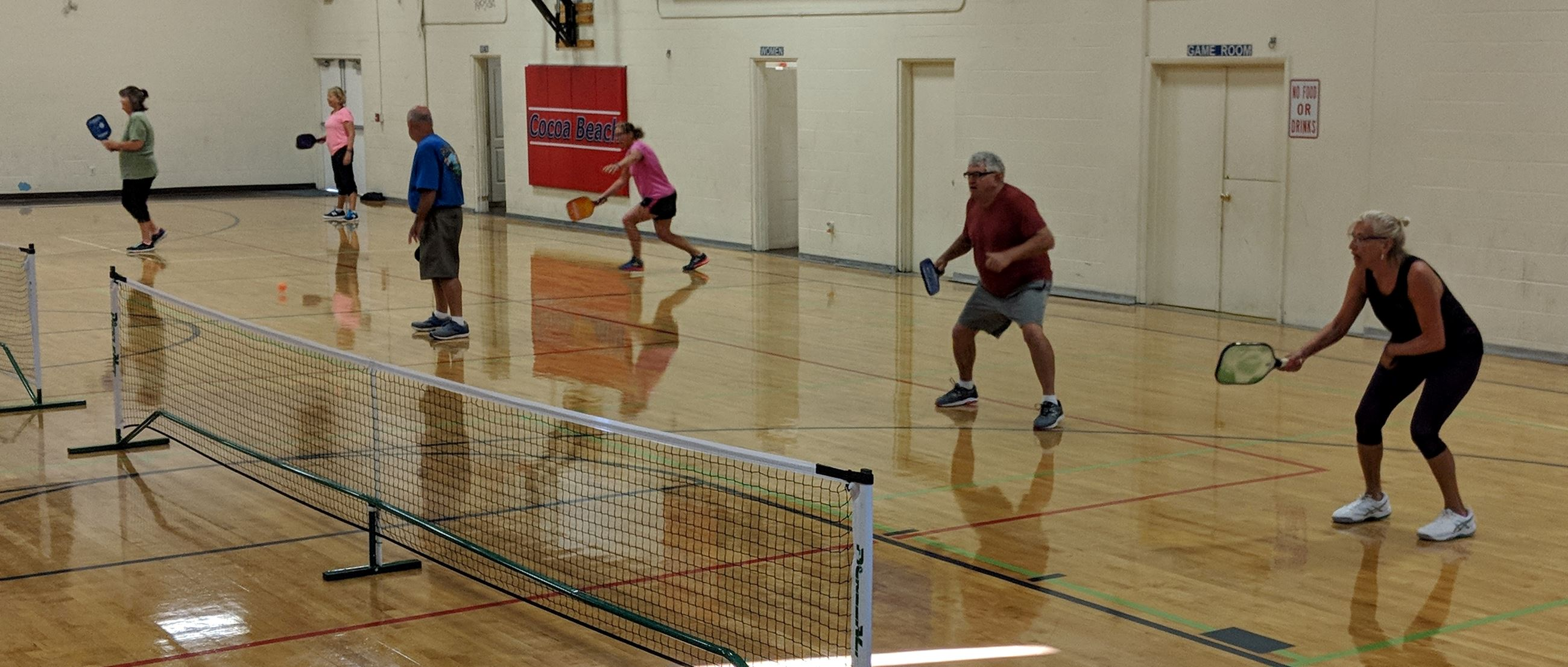 team playing pickleball at the recreation center