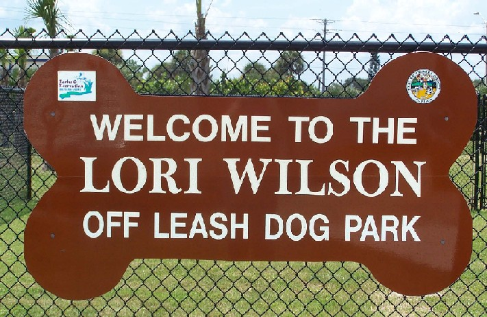 Welcome to Lori Wilson Dog Park Sign