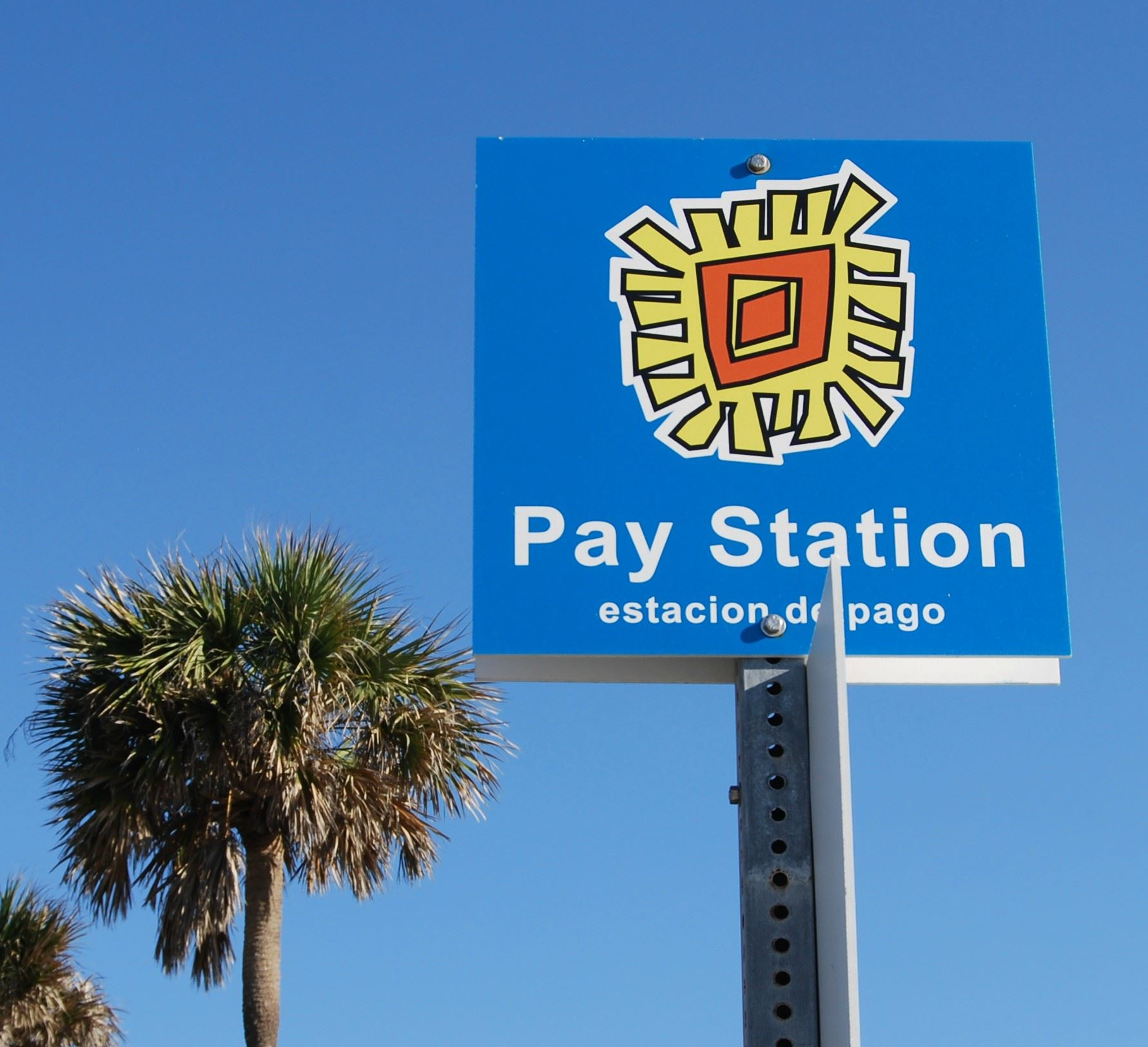 Pay Station Sign